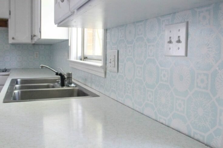 The Cheapest Diy Backsplash Ever Lovely Etc
