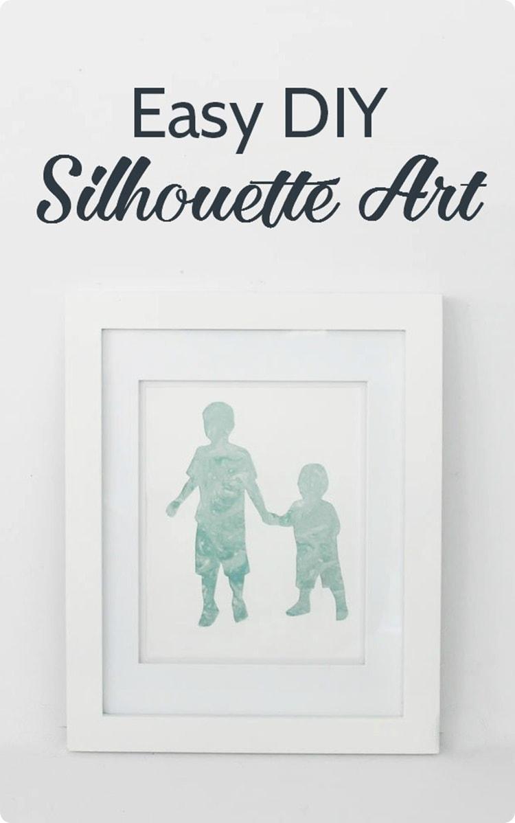 easy diy silhouette art