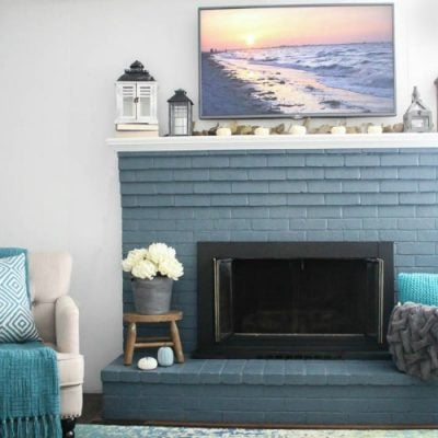 Modern Farmhouse Mantel: High style on a low budget