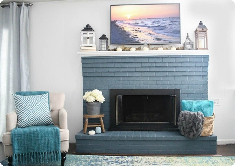 modern farmhouse fireplace