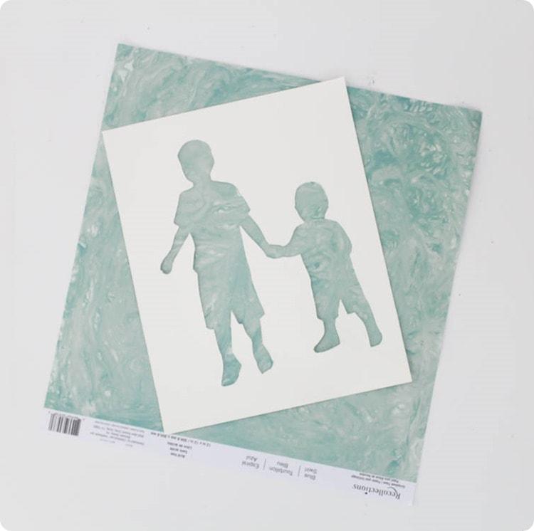 scrapbook paper silhouette