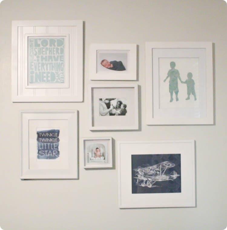 simple nursery gallery wall