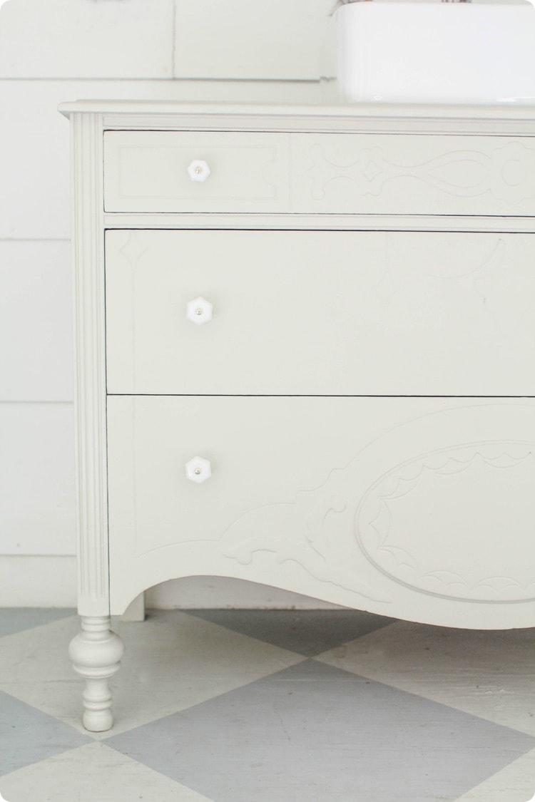 updated dresser vanity