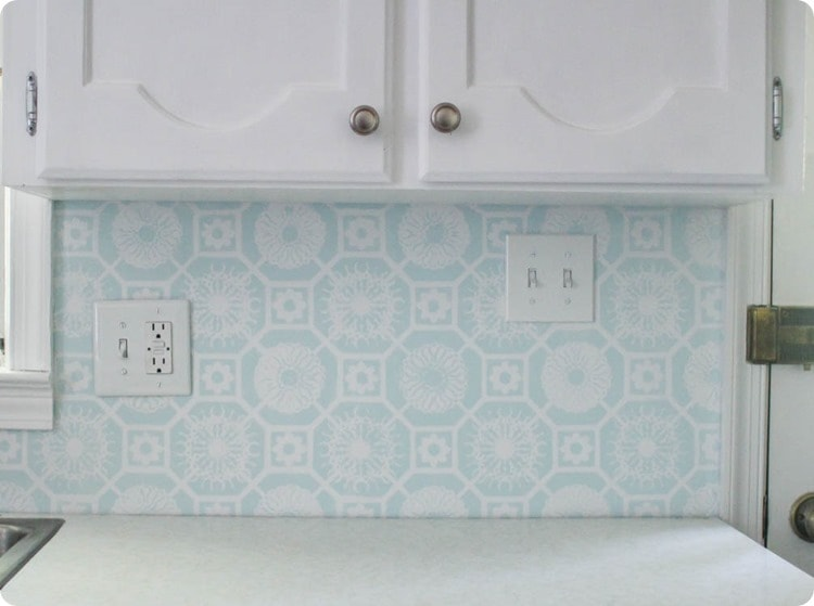 updated outlets and painted backsplash