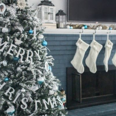 Blue and White Christmas Home Tour