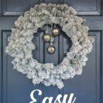 Easy DIY Flocked Wreath