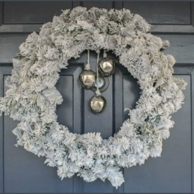 Easy DIY Flocked Wreath