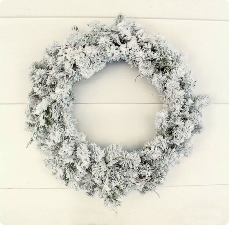 diy flocked wreath