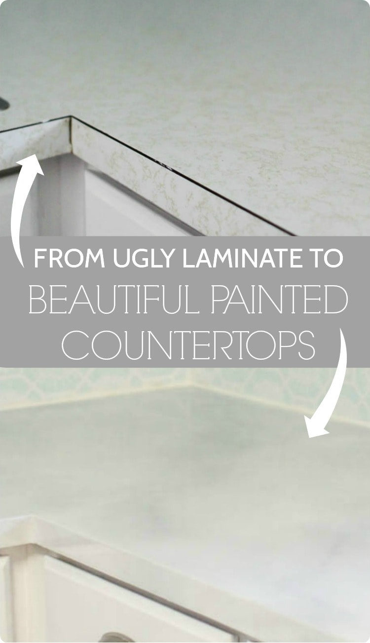 from ugly laminate to beatufiul painted countertops