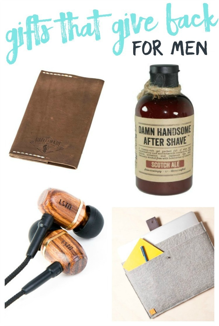 gifts that give back for men