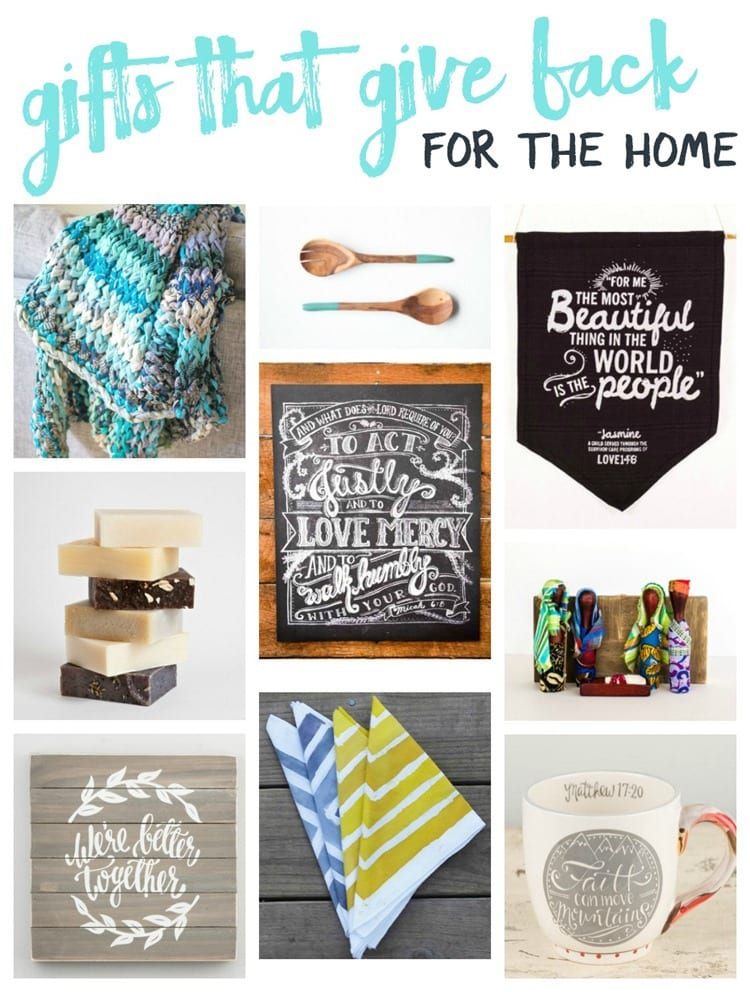 gifts that give back for the home