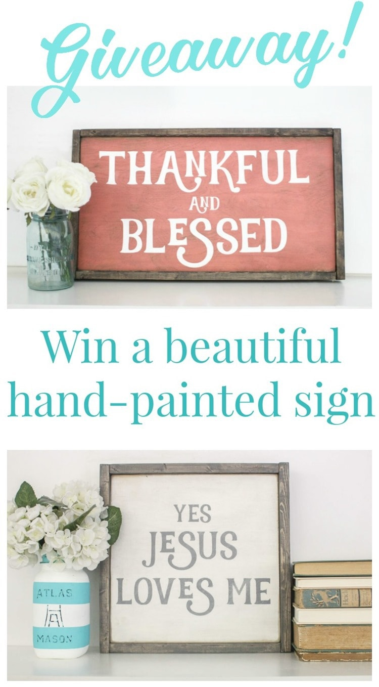 hand painted sign giveaway