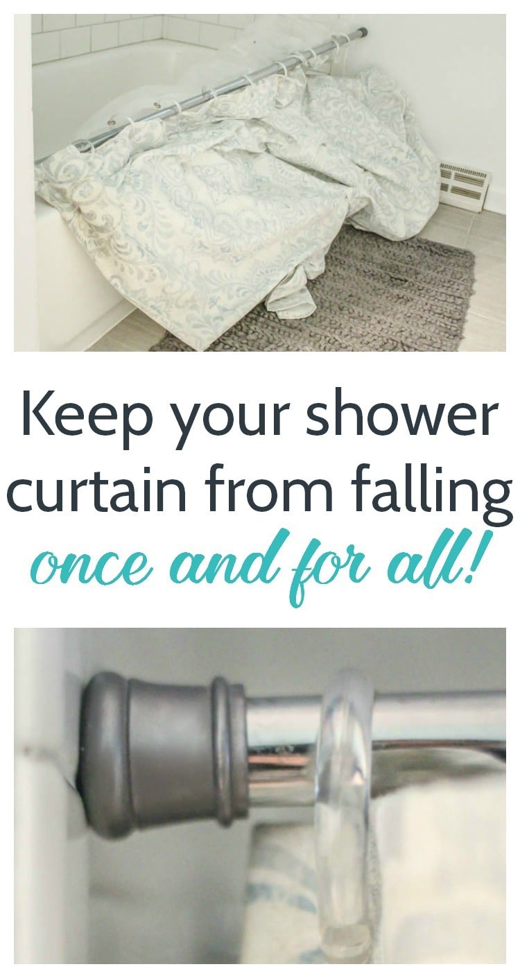 How to Keep Your Shower Curtain From Falling Down   Lovely Etc.