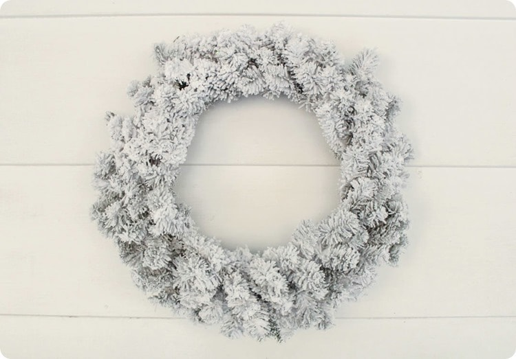 plain flocked wreath