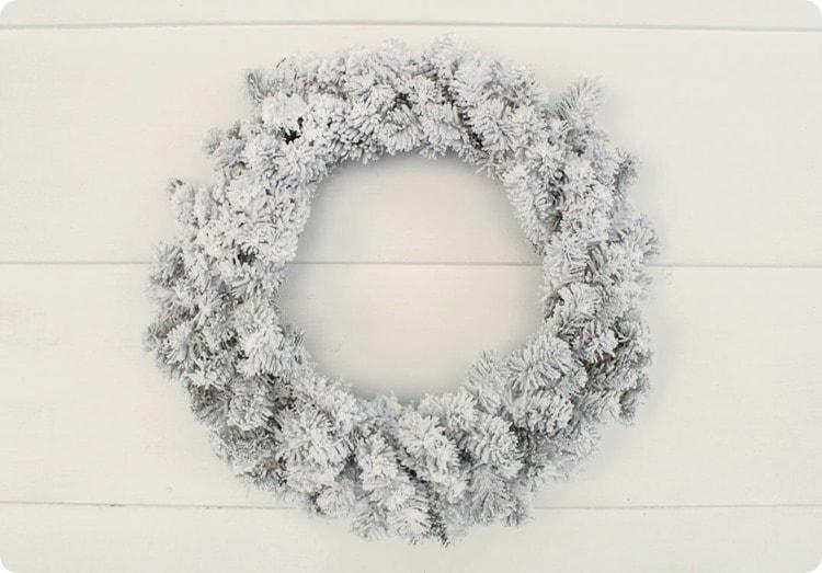 plain flocked wreath