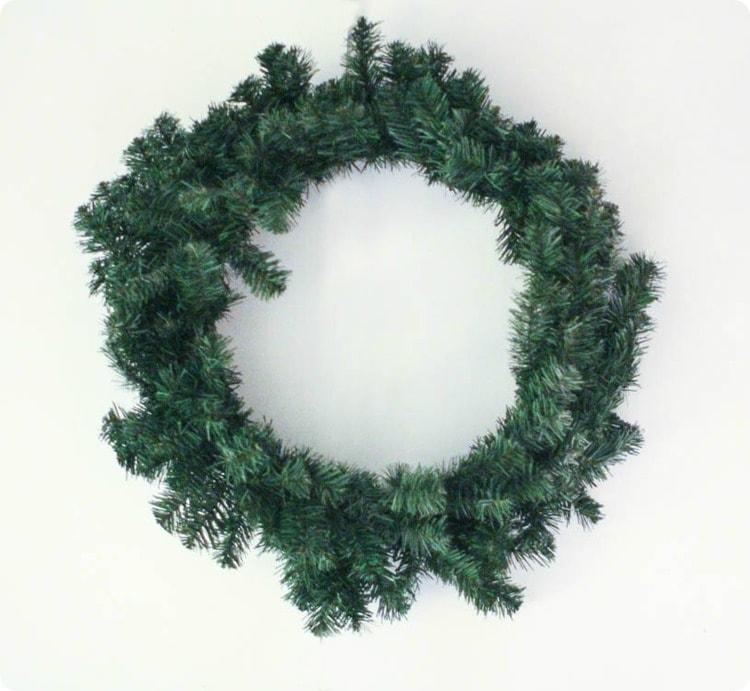 plain pine wreath.