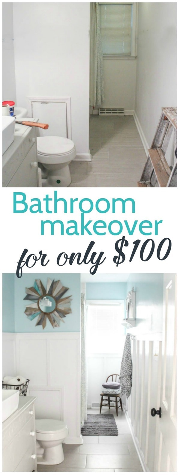 Bathroom Makeover For Only One Hundred Dollars