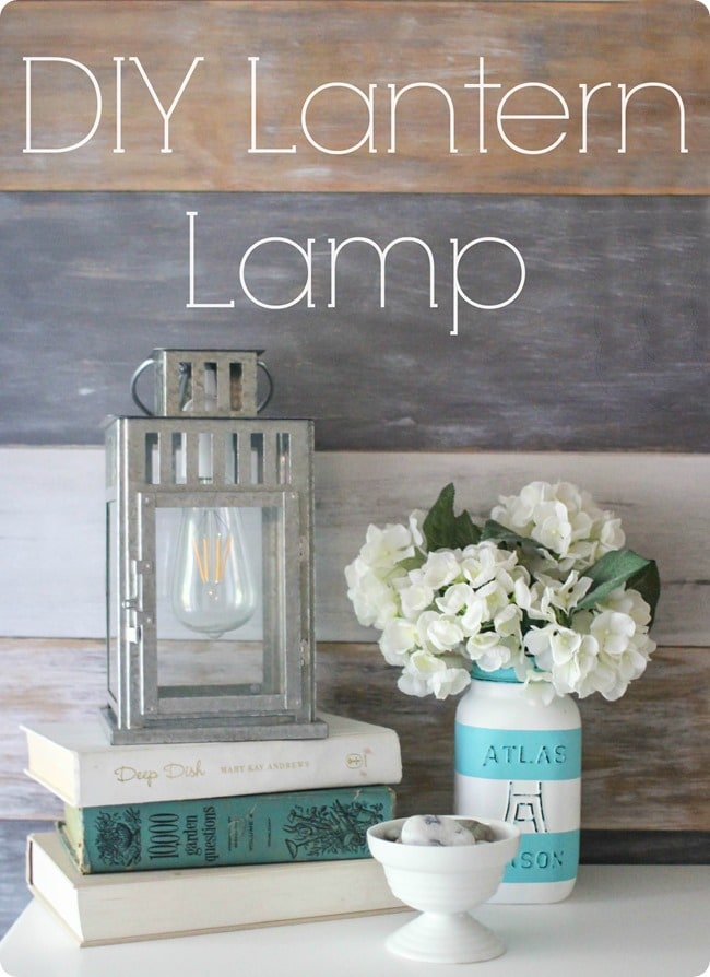 diy farmhouse lantern light