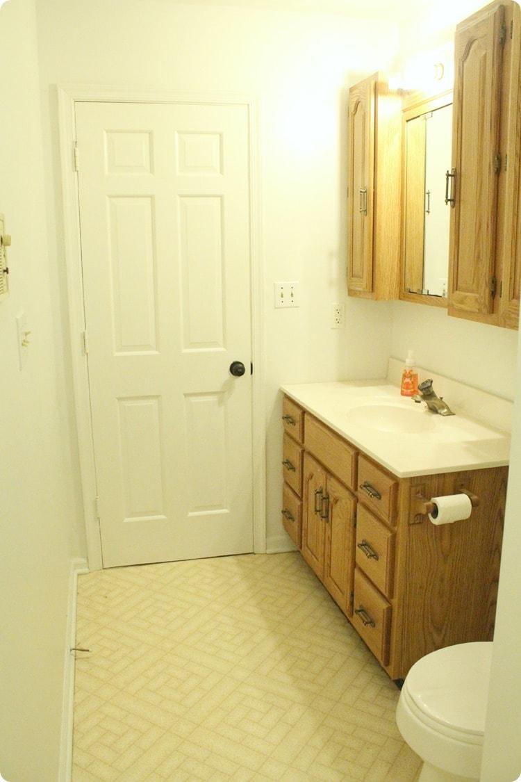 hall bathroom floor