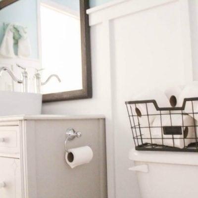 Vintage Modern Bathroom Reveal: $100 Room Challenge