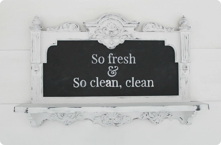 so fresh and so clean clean chalkboard