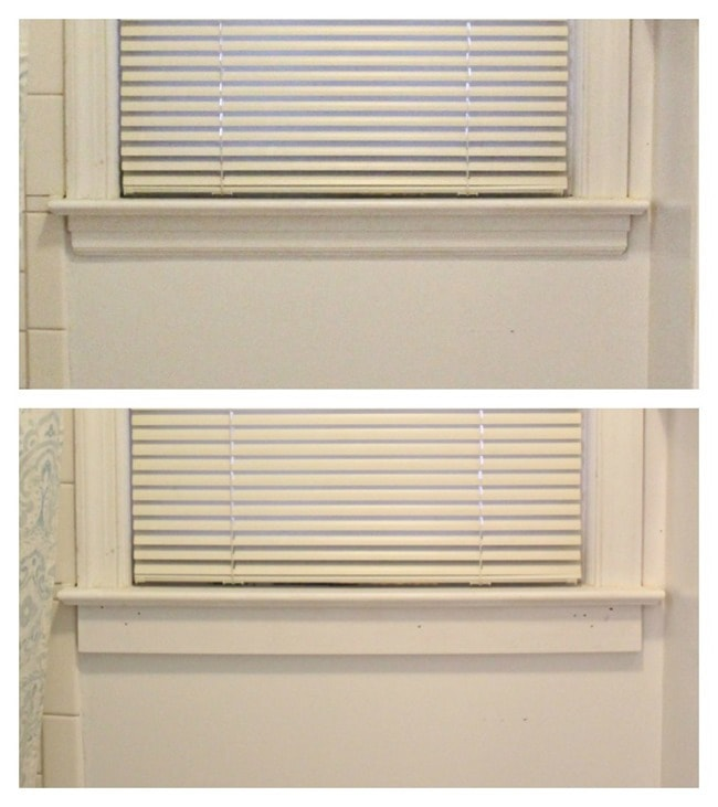 window frame before and after