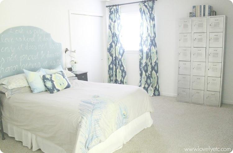 Inexpensive DIY master bedroom makeover