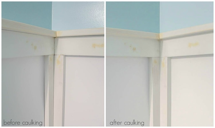 before caulking and after caulking
