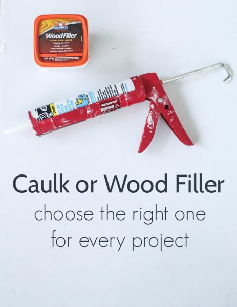 Caulk or wood filler: choose the right one for every project