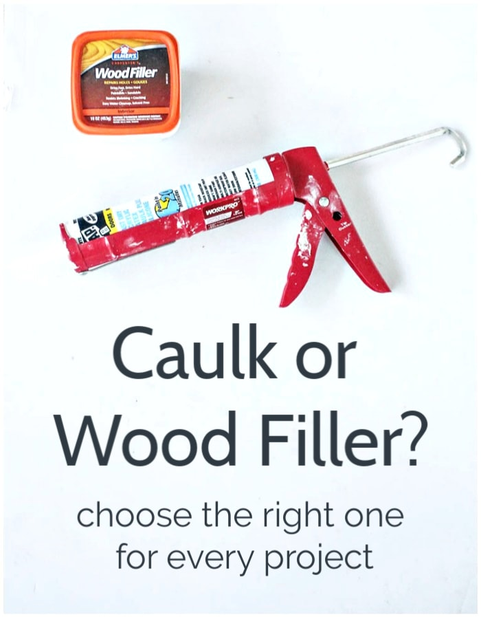 caulk or wood filler - choose the right one for every project