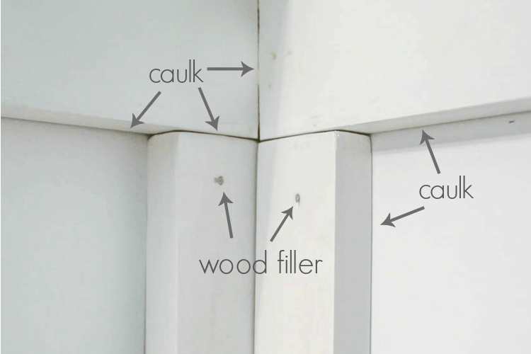 Caulk Or Wood Filler Choose The Right