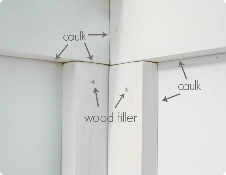 caulk or wood filler