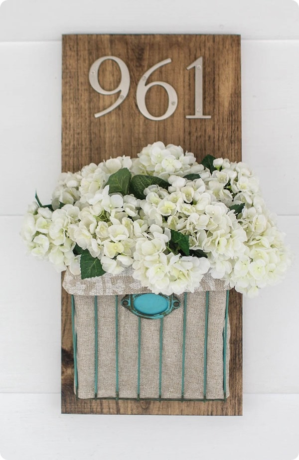 diy house number with flowers lovely etc