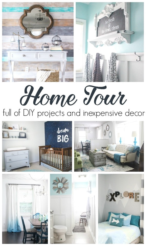 home tour diy and inexpensive
