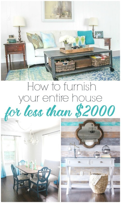 how to furnish your entire house for less than 2000