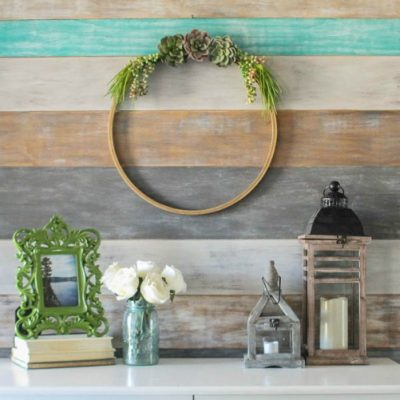 Simple Succulent Wreath