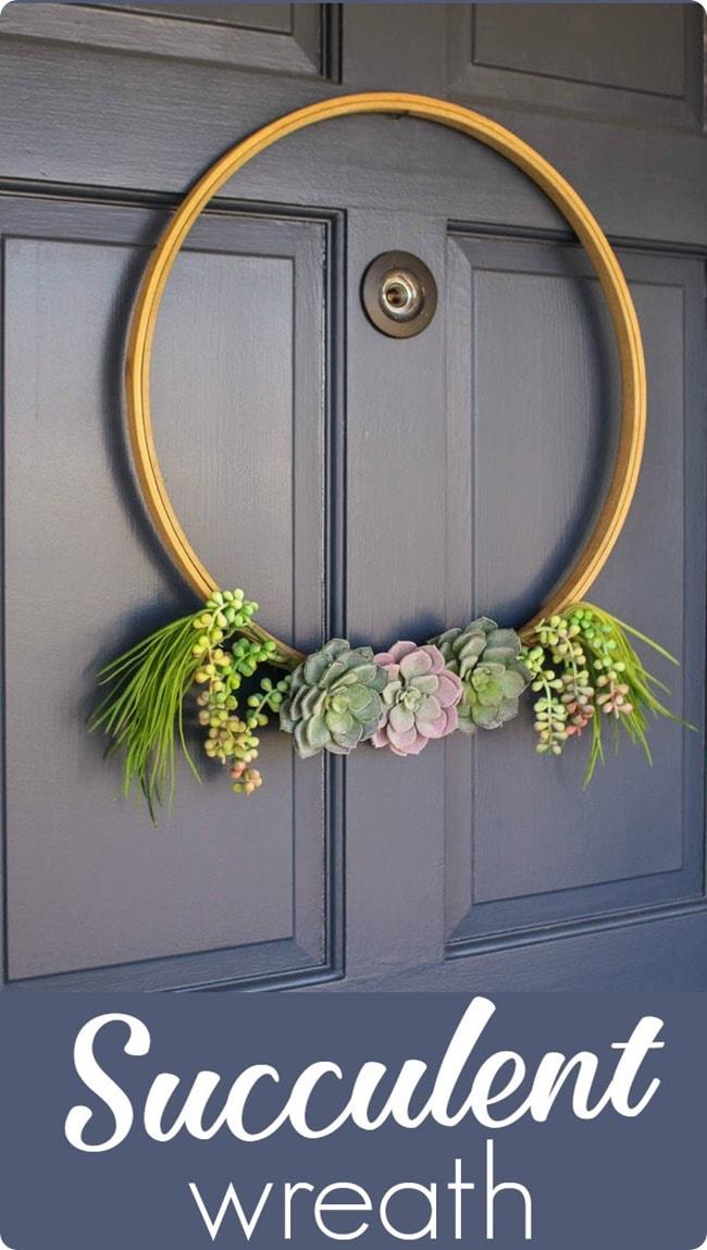 Simple Succulent Wreath Lovely Etc