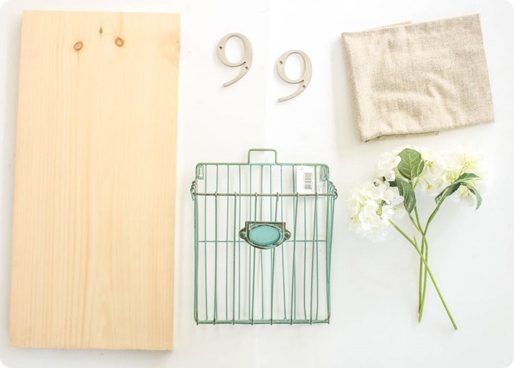 supplies for diy house number with flowers