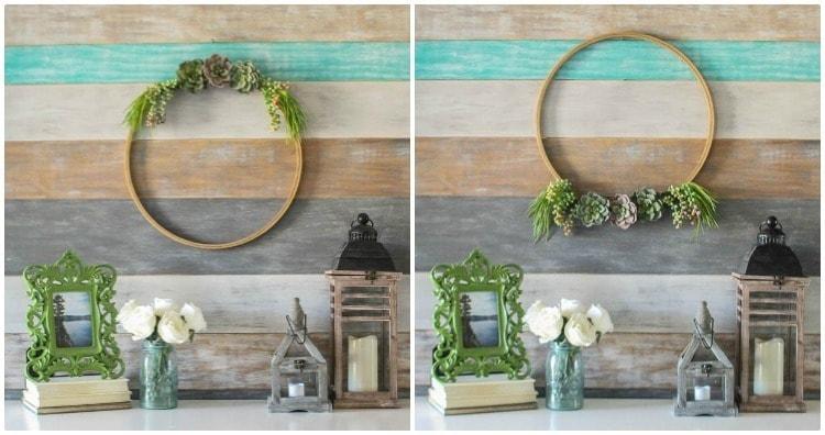 wreath above or below