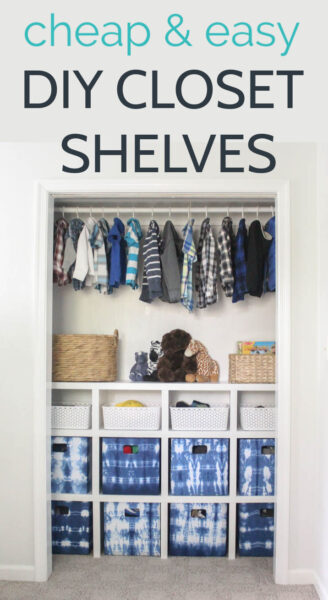 How to build easy DIY closet shelves. Build your own custom closet shelves for cheap.