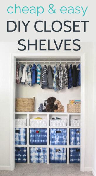 How to build easy DIY closet shelves. Build your own custom closet shelves for cheap.