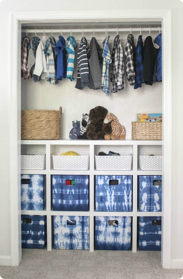 Diy closet organizer for kids room