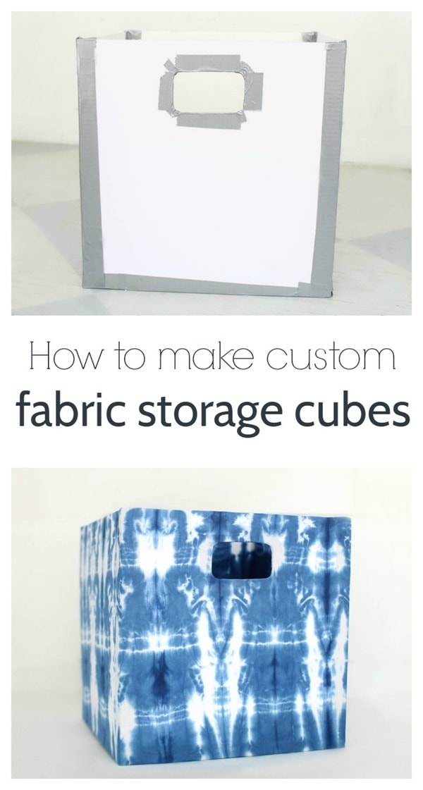 diy custom fabric storage cubes