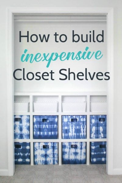 Build your own DIY closet shelves, these are easy and inexpensive and the perfect way to organize any closet