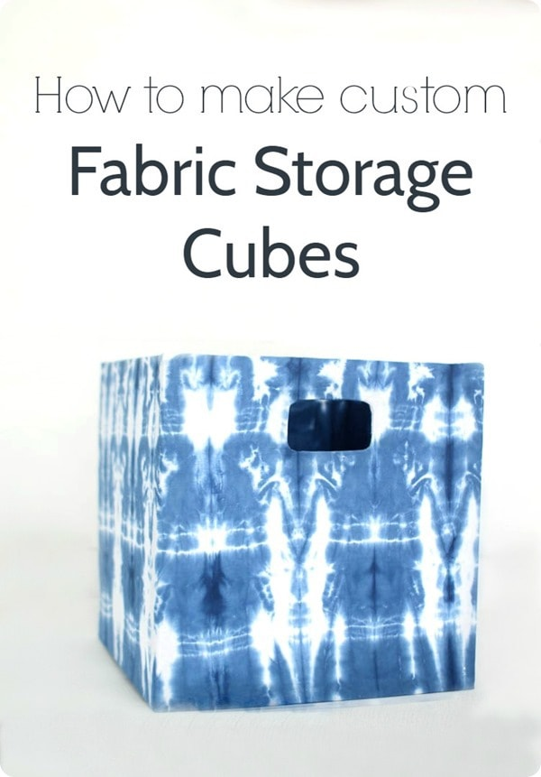 how to make custom fabric storage cubes pin image