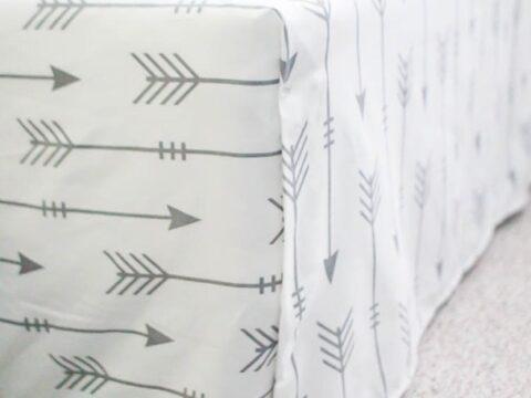 Bed Skirt From A Flat Sheet