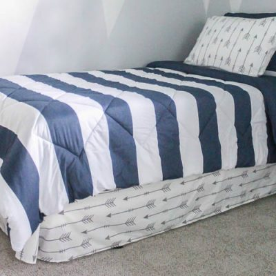 How to make a bed skirt from a flat sheet