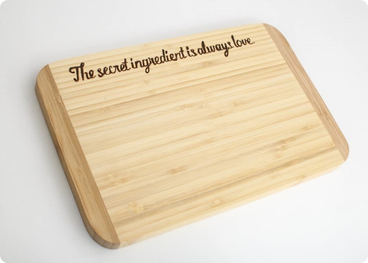 diy custom cutting board