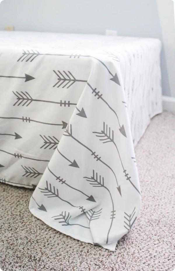 extra fabric in corner