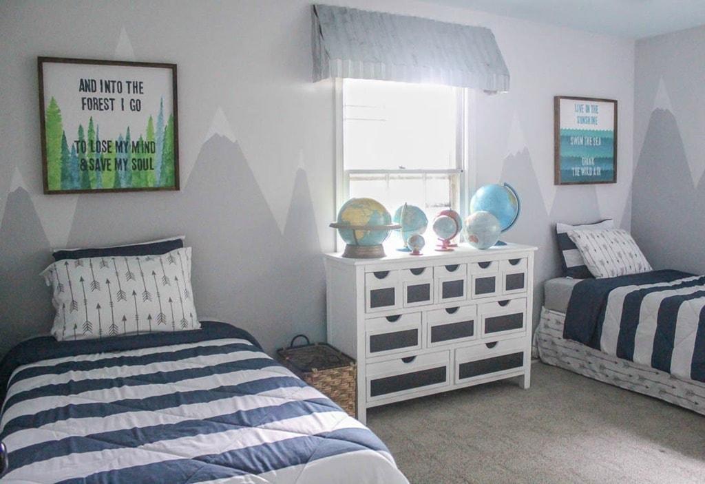 Boys Shared Bedroom Reveal One Room Challenge Lovely Etc